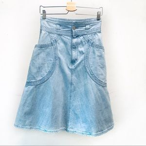 Super unique Tsunori Chisato denim skirt